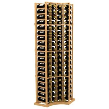 Curved Corner Standard Wood Wine Rack