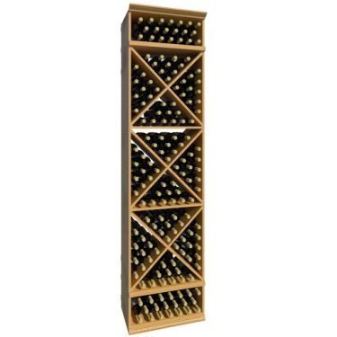 8' Solid X-Cube Wine Rack