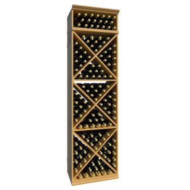 7' Solid X-Cube Wine Rack