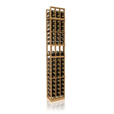 7' Three Column Display Wood Wine Rack