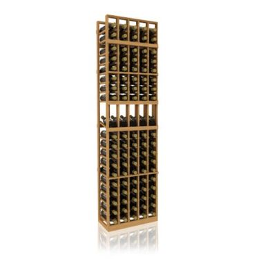 7' Five Column Display Wood Wine Rack