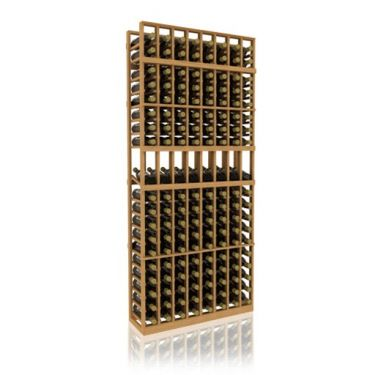 7' Eight Column Display Wood Wine Rack