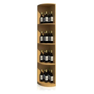 Solid Quarter Round Wine Display
