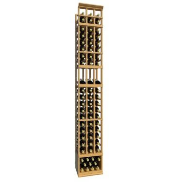 8' Three Column Display Wood Wine Rack