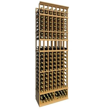 8' Seven Column Display Wood Wine Rack