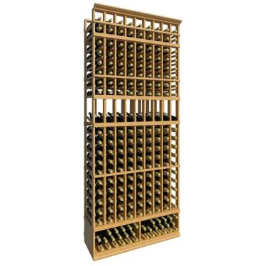 8' Ten Column Display Wood Wine Rack