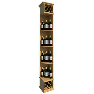 8' Solid Quarter Round Wine Display - Square Base