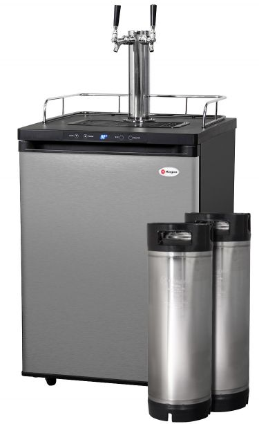 Kegco Hbk309s 2k Digital Double Faucet Home Brew Kegerator