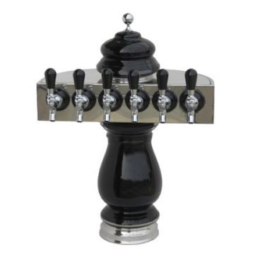 Six Faucet Ceramic Beer Tower