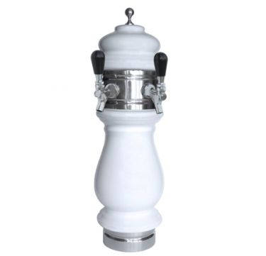 Double Faucet Ceramic Beer Tower