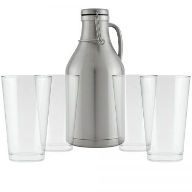 Stainless Growler & Pint Glasses