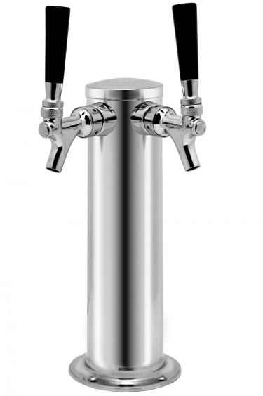 Kegco SS Dual Faucet Beer Tower