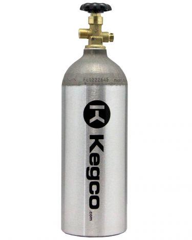 5 lb  Aluminum Co2 Tank for Kegerator and Draft Beer Dispensing