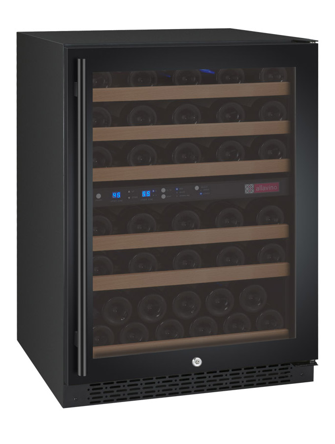 Allavino Wine Refrigerator Two Zone Vswr56 2br20 Flexcount Ii Tru Vino 56 Bottle Black Door Right Hinge Beveragefactory Com