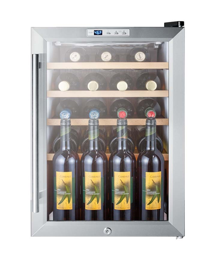 Summit SCR312LCSSWC2 Front Full2  sc 1 st  BeverageFactory.com & Summit SCR312LCSSWC2 22 Bottle Freestanding Wine Cooler - Stainless ...