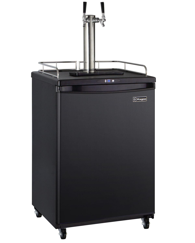 Kegco HBK163B-2 Dual Faucet Digital Home Brew Beer Dispenser - Black ...